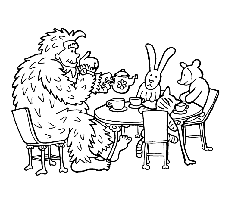printable bigfoot coloring pages - bigfoot colouring pages