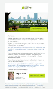 Pittsburg Parks Conservancy Email Template Refesh